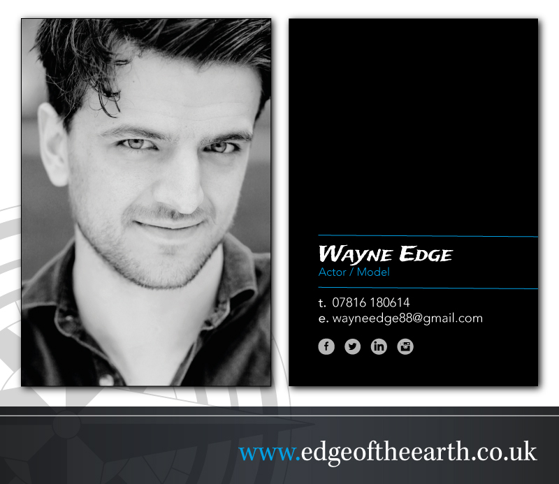 Actors Business Cards Edge The Earth
